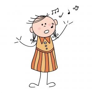 Múscia para niños: Niña cantando